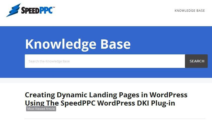SpeedPPC WordPress DKI Plugin