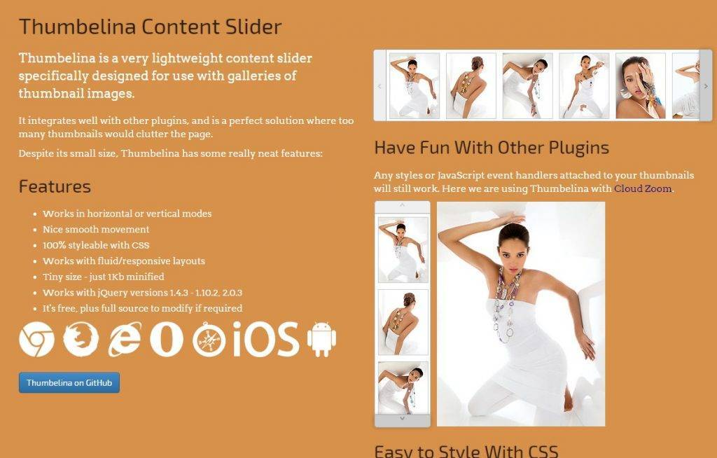 Thumbelina Content Slider