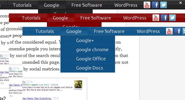 wordpress-fading-menus