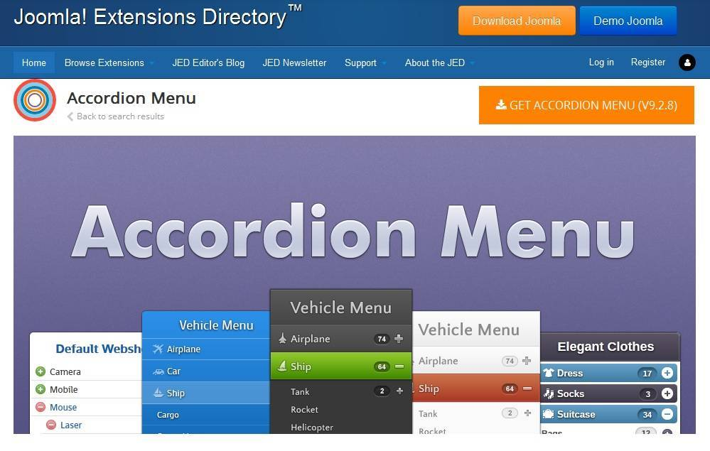 Nextendweb Accordion Menu