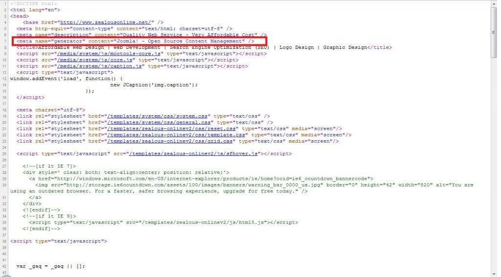 Joomla- Open Source Content Management remove