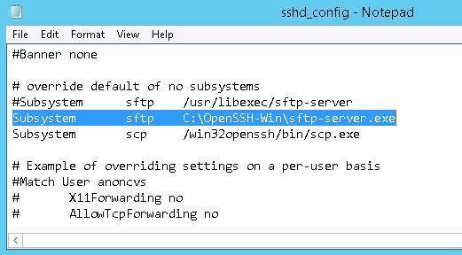 Subsystem-sftp