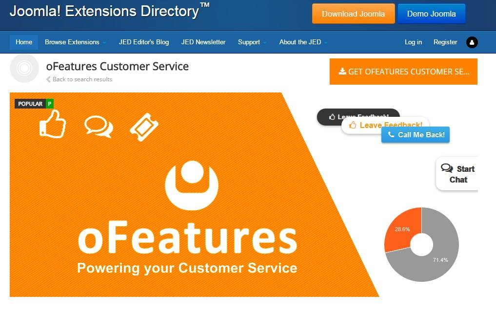 oFeatures Customer Service