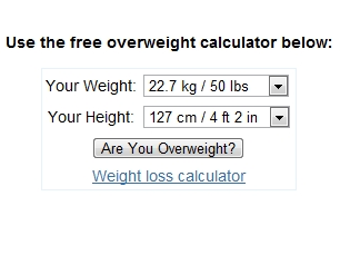 Overweight Calculator
