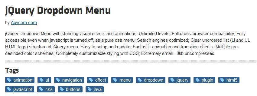 jQuery Dropdown Menu