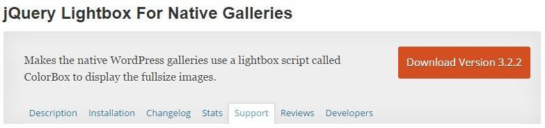 jQuery Lightbox For Native Galleries