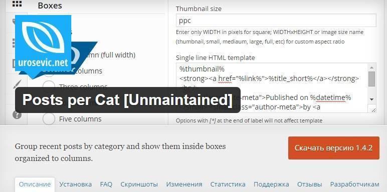 Posts per Cat