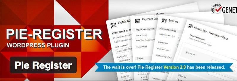 плагин Pie Register